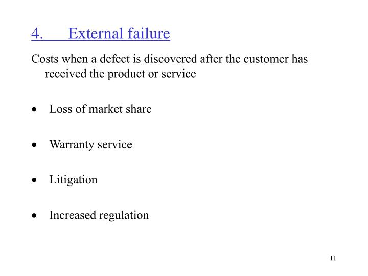 4.	External failure