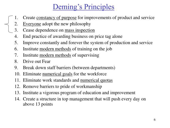 Deming's Principles