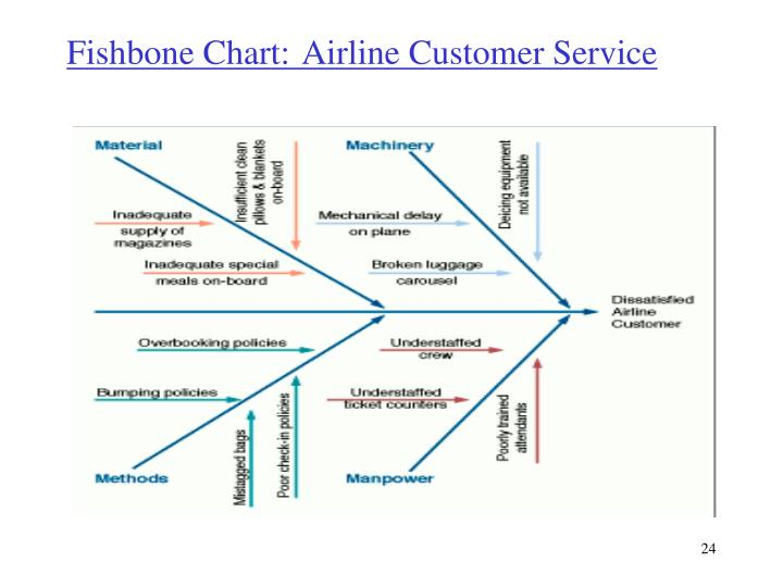 Fishbone Chart: 	Airline Customer Service
