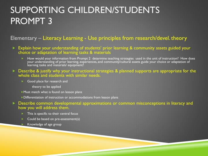 Supporting Children/Students