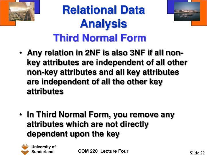 Relational Data Analysis
