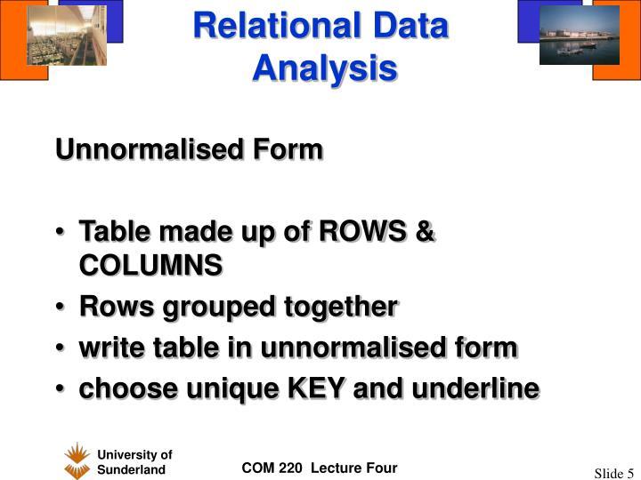 Relational Data