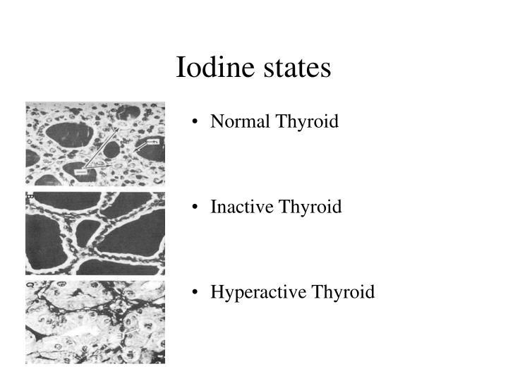 Iodine states