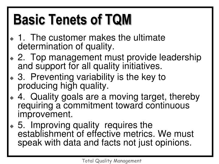 Basic Tenets of TQM