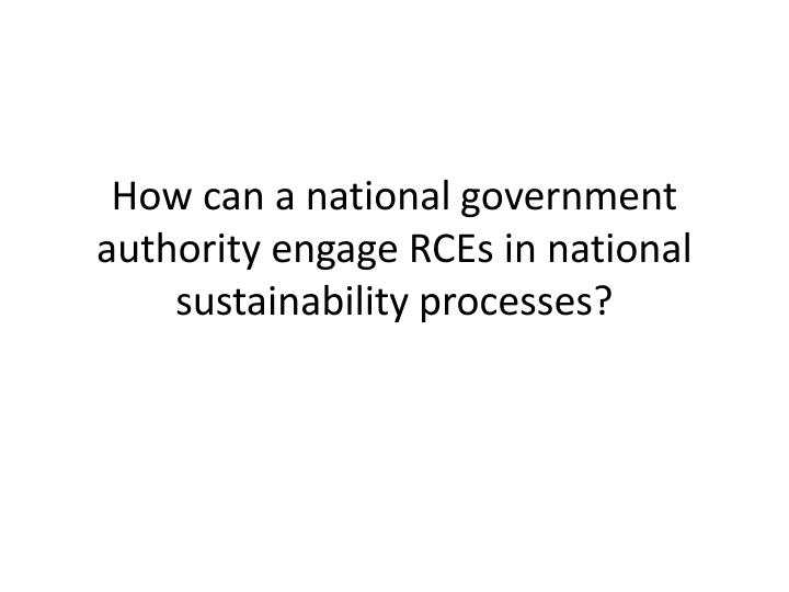 How can a national government authority engage