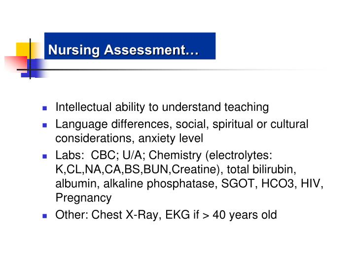 Nursing Assessment…