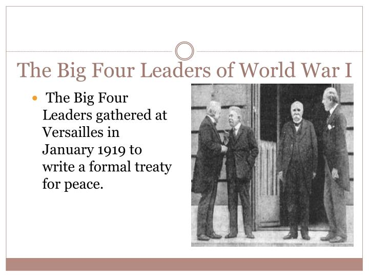The Big Four Leaders of World War I