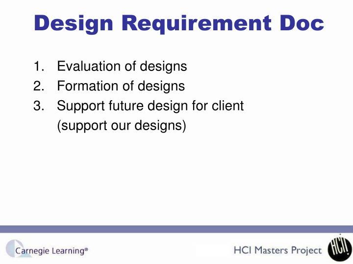 Design Requirement Doc