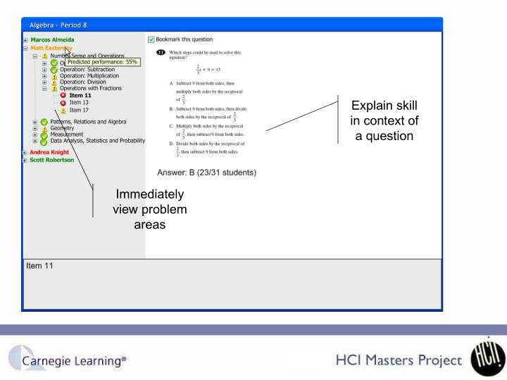 Explain skill in context of a question