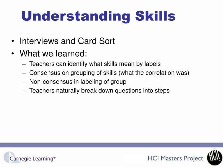 Understanding Skills
