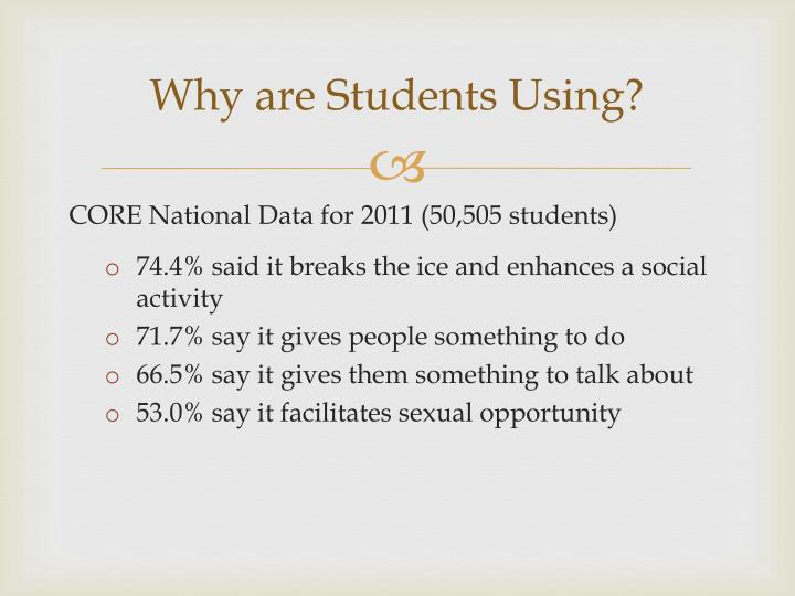 Why are Students Using?