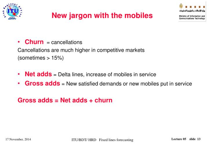 New jargon with the mobiles