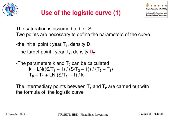 Use of the logistic curve (1)