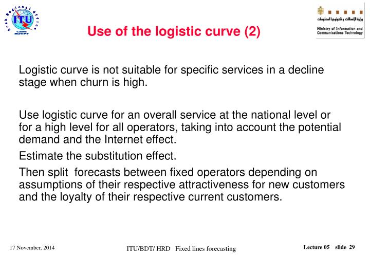 Use of the logistic curve (2)