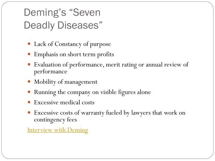 "Deming's ""Seven"