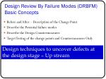 design review by failure modes drbfm basic concepts