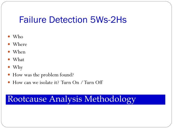 Failure Detection 5Ws-2Hs