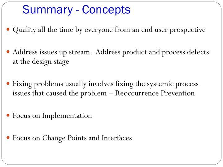 Summary - Concepts
