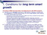 1 conditions for long term smart growth