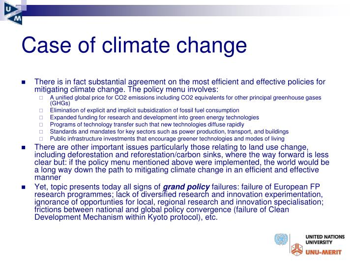 Case of climate change