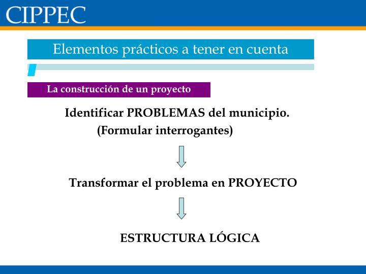 Elementos prácticos a tener en cuenta