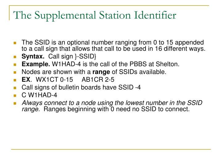 The Supplemental Station Identifier