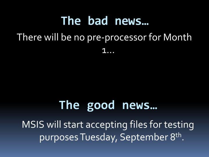 The bad news…
