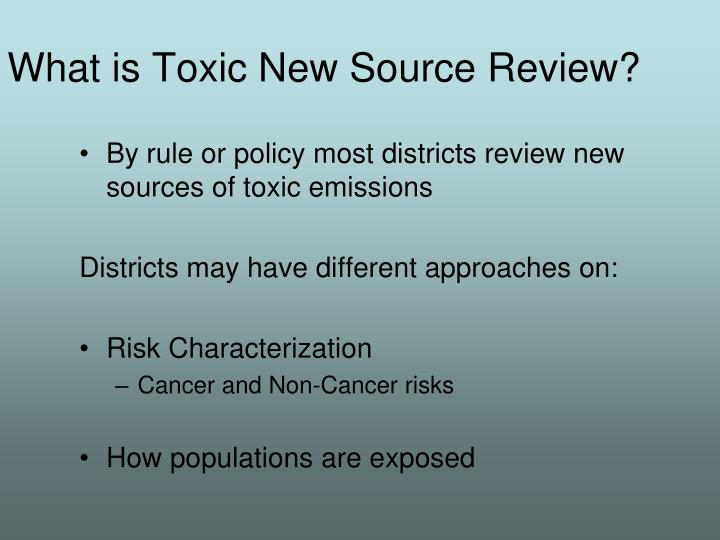 What is Toxic New Source Review?