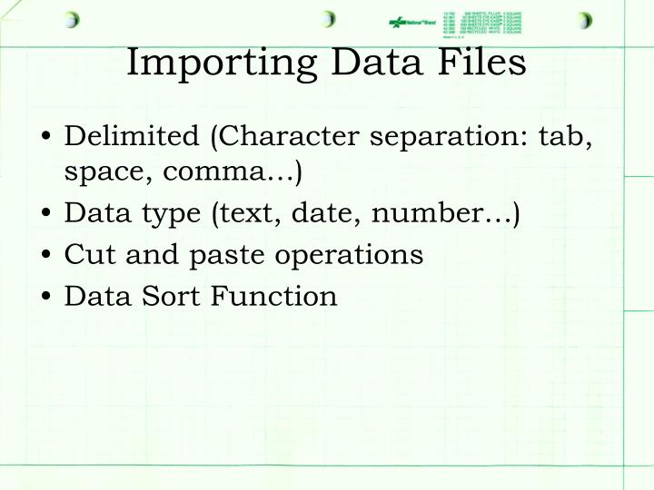 Importing Data Files
