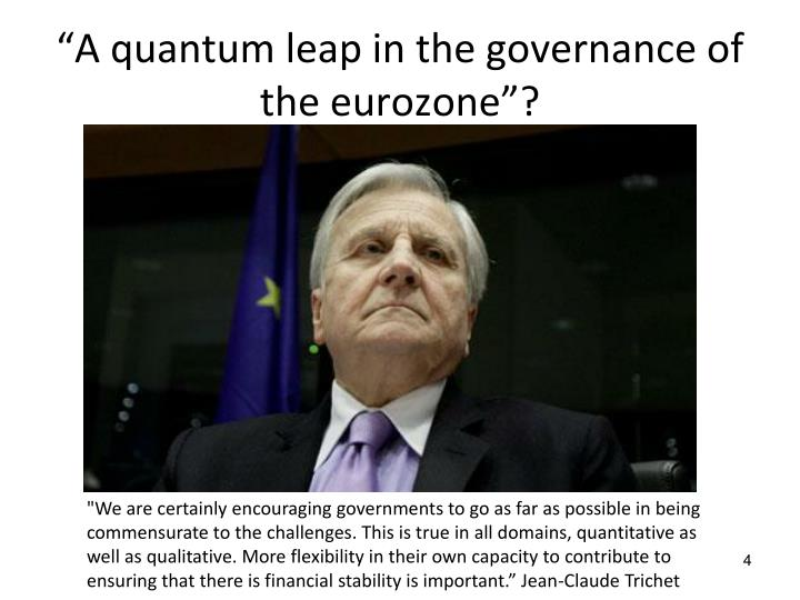 """""""A quantum leap in the governance of the"""