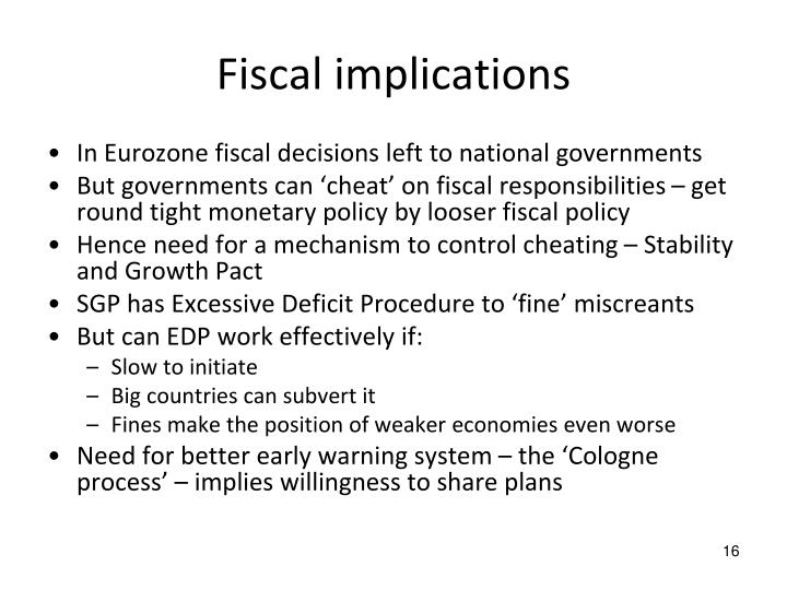 Fiscal implications