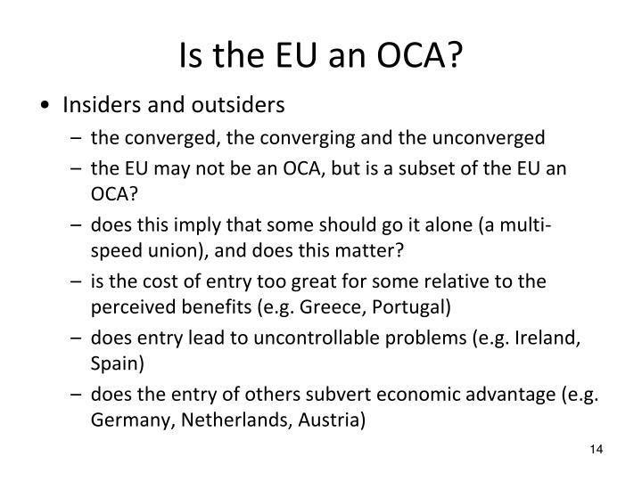 Is the EU an OCA?