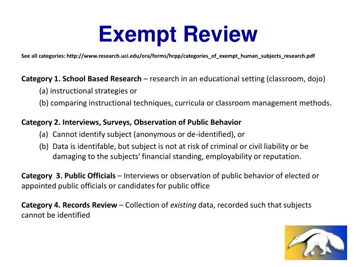 Exempt Review