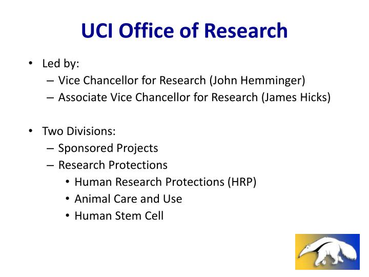 Uci office of research
