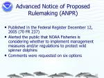 advanced notice of proposed rulemaking anpr