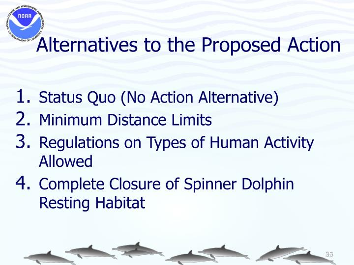 Alternatives to the Proposed Action