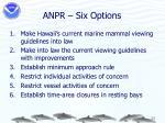 anpr six options