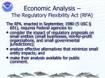 economic analysis the regulatory flexibility act rfa
