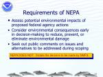 requirements of nepa