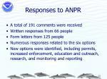 responses to anpr