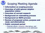 scoping meeting agenda
