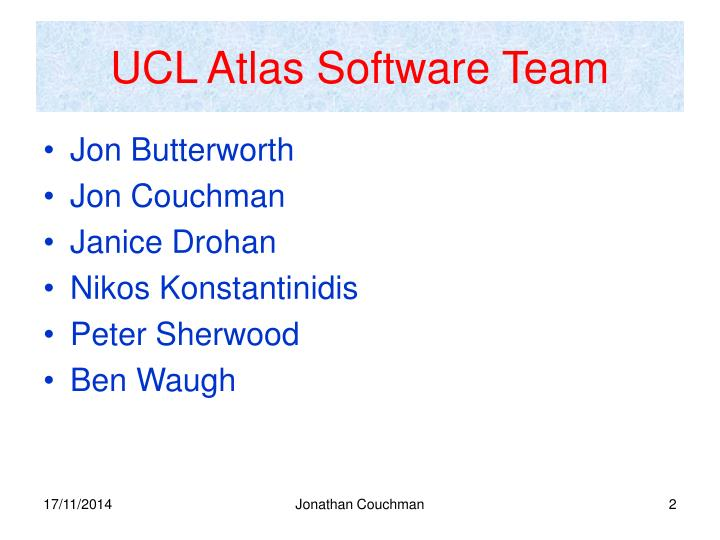 UCL Atlas Software Team
