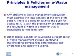 principles policies on e waste management1