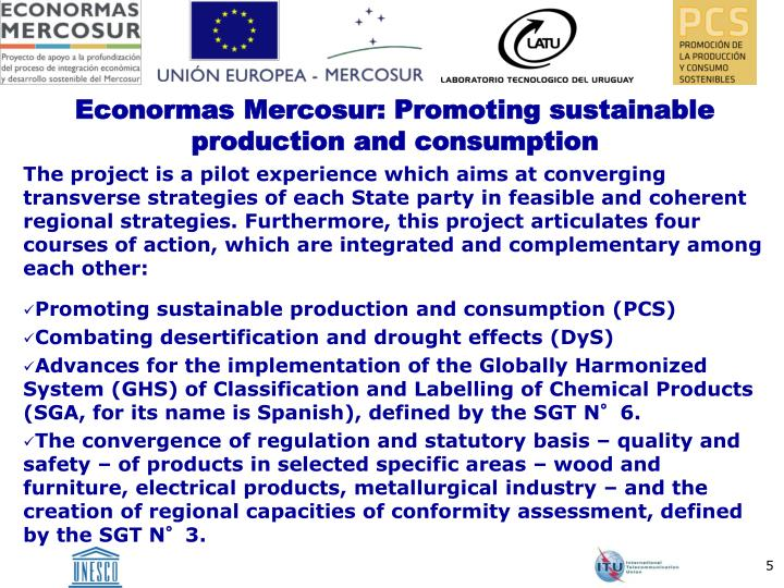Econormas Mercosur: Promoting sustainable production and consumption