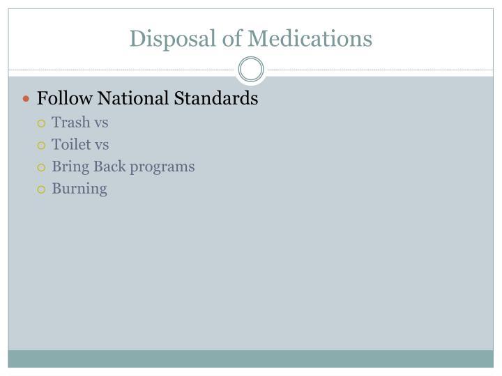 Disposal of Medications