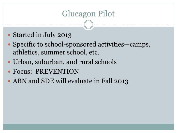 Glucagon Pilot