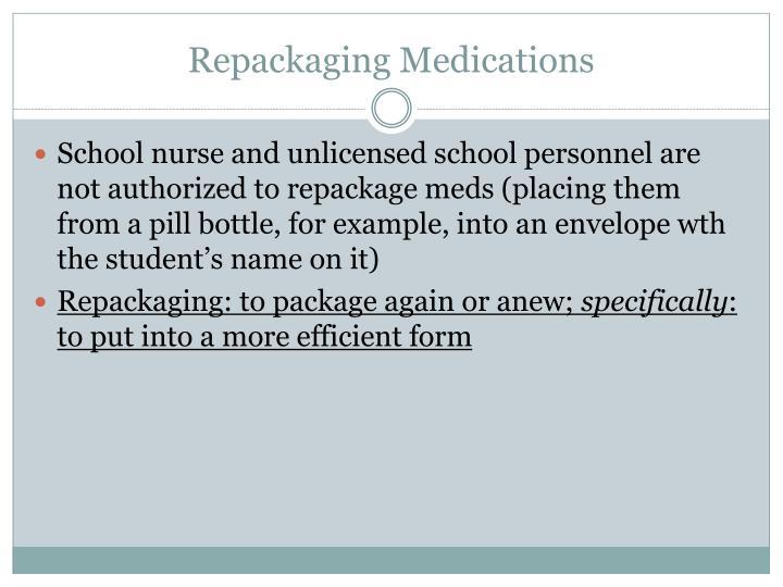 Repackaging Medications