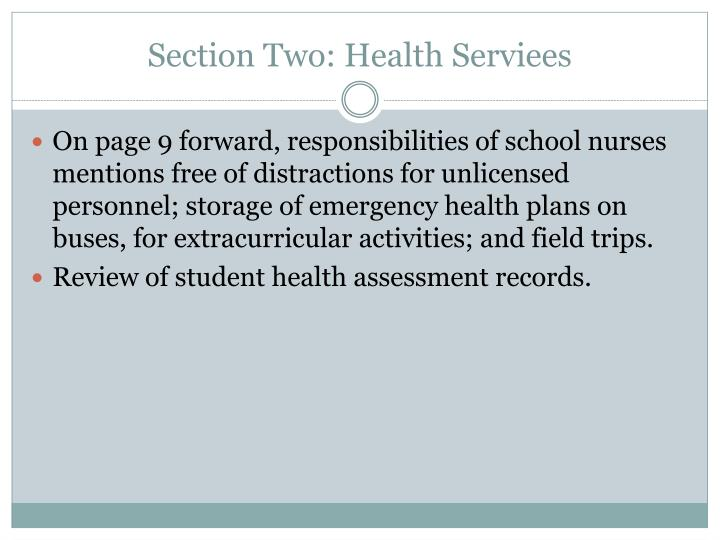 Section Two: Health