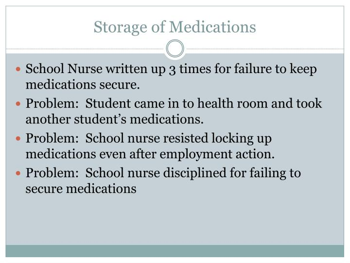 Storage of Medications