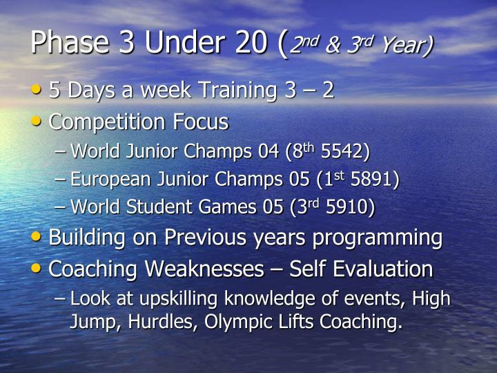 Phase 3 Under 20 (